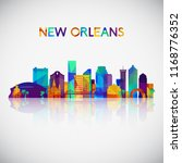 new orleans skyline silhouette...   Shutterstock .eps vector #1168776352
