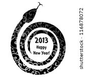New Year's Card With Snake....
