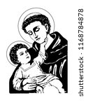 saint anthony with child jesus... | Shutterstock .eps vector #1168784878
