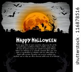 halloween night illustration  ... | Shutterstock .eps vector #116878516