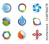 3 dimension of circle logo... | Shutterstock .eps vector #1168786678