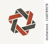 hexagonal intertwined ribbon | Shutterstock .eps vector #1168789078