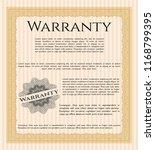 orange warranty certificate... | Shutterstock .eps vector #1168799395