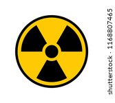 radioactive warning yellow... | Shutterstock .eps vector #1168807465