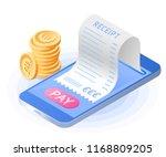 the online payment bill. smart... | Shutterstock .eps vector #1168809205