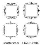 vintage vector swirl frame set | Shutterstock .eps vector #1168810408