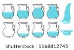 vector set of frames  full and... | Shutterstock .eps vector #1168812745
