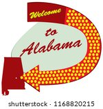 road sign welcome to alabama ... | Shutterstock .eps vector #1168820215