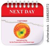 calendar   next day. after... | Shutterstock .eps vector #1168820572