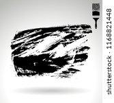 black brush stroke and texture. ... | Shutterstock .eps vector #1168821448
