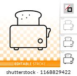 bread toaster thin line icon....   Shutterstock .eps vector #1168829422