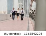 modern young businesspeople in... | Shutterstock . vector #1168842205