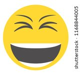 emoticon laughing out loud  | Shutterstock .eps vector #1168844005