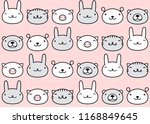 animal icons seamless pattern.... | Shutterstock .eps vector #1168849645