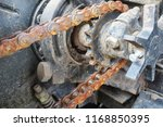 chain drive. rusty driving... | Shutterstock . vector #1168850395