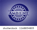 ambient emblem with jean texture | Shutterstock .eps vector #1168854805