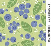 blueberries seamless pattern.... | Shutterstock .eps vector #1168860325