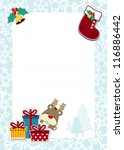 frame with childlike christmas... | Shutterstock .eps vector #116886442