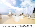 rooftop terrace prepared for a... | Shutterstock . vector #1168865122