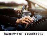 businessman in suit is... | Shutterstock . vector #1168865992