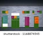 set signage.direction pole ... | Shutterstock .eps vector #1168874545