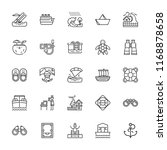 collection of 25 sea outline...   Shutterstock .eps vector #1168878658