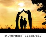 muslim family home together | Shutterstock . vector #116887882