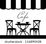 vector street cafe  french cafe | Shutterstock .eps vector #116890438