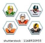 avatars set american football...   Shutterstock .eps vector #1168920955