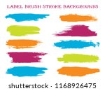 colorful label brush stroke... | Shutterstock .eps vector #1168926475