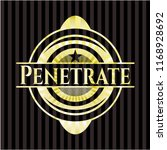 penetrate golden badge or emblem | Shutterstock .eps vector #1168928692