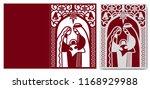 laser cutting template.... | Shutterstock .eps vector #1168929988