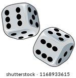 throw of the dice. a crisp... | Shutterstock .eps vector #1168933615