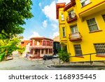 historical colorful houses in... | Shutterstock . vector #1168935445