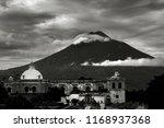 cloudy volc n de agua antigua... | Shutterstock . vector #1168937368