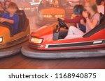 bumper cars on a fairground   Shutterstock . vector #1168940875