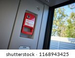 abstract view on red emergency... | Shutterstock . vector #1168943425