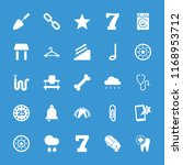 single icon. collection of 25... | Shutterstock .eps vector #1168953712