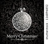 christmas greeting card.... | Shutterstock .eps vector #116896852