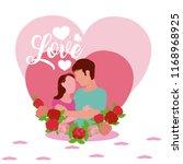 cute love cartoons | Shutterstock .eps vector #1168968925