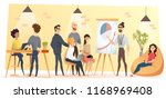 young business team in... | Shutterstock .eps vector #1168969408