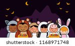 halloween and kids | Shutterstock .eps vector #1168971748