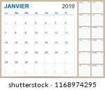 french planning calendar 2019 ... | Shutterstock .eps vector #1168974295