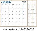 english planning calendar 2019  ... | Shutterstock .eps vector #1168974838