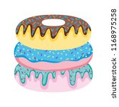 delicious donut sweet bakery...   Shutterstock .eps vector #1168975258