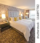 Stock photo modern luxury bedroom interior design 116897782