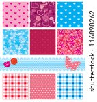 fabric textures in pink and... | Shutterstock .eps vector #116898262