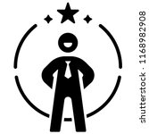 Person Icon With Star On Circle ...