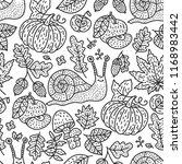 cozy fall hand drawn vector... | Shutterstock .eps vector #1168983442