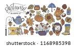 big autumn icon set. cozy fall...   Shutterstock .eps vector #1168985398